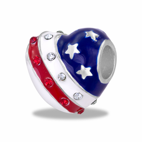 Davinci Beads Patriotic Heart