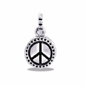 Davinci Beads Peace Sign Dangle