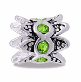 Davinci Beads Peridot CZ Crown