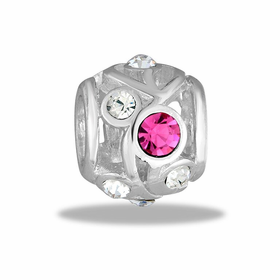 Davinci Beads Pink CZ Decorative Cutout