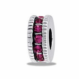 Davinci Beads Pink CZ Wheel