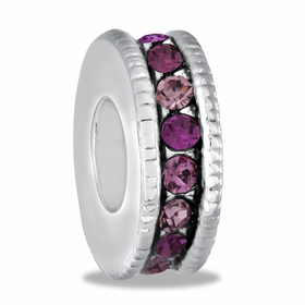 Davinci Beads Pink Large CZ  Wheel Thin