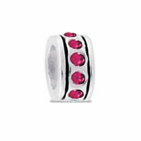 Davinci Beads Pink Small CZ Wheel