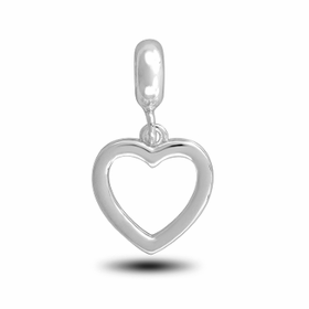 Davinci Beads Plain Heart Photo Dangle