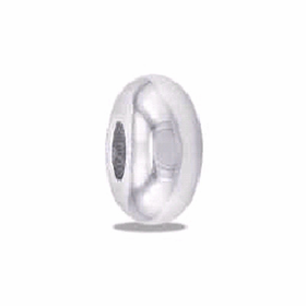 Davinci Beads Plain Stopper Silver