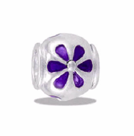 Davinci Beads Purple Daisies Enamel