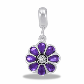 Davinci Beads Purple Flower