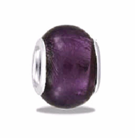 Davinci Beads Purple Foil Glass