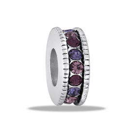 Davinci Beads Purple Large CZ Wheel