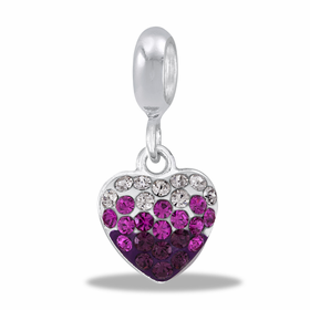 Davinci Beads Purple Transition Heart