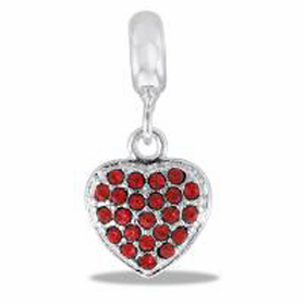 Davinci Beads Red CZ Heart