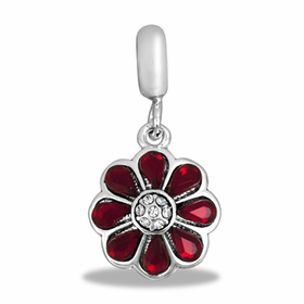 Davinci Beads Red Flower