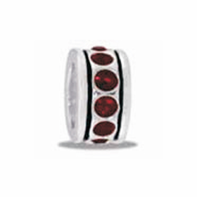 Davinci Beads Red Small CZ Wheel