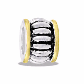 Davinci Beads Ribbed Two Tone