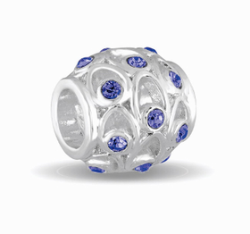 Davinci Beads September Crystal Orb Decorative