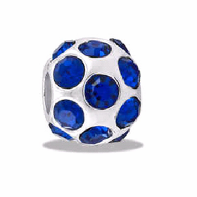 DAVINCI BEADS SEPTEMBER CZ BALL BIRTHSTONE