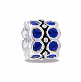DAVINCI BEADS SEPTEMBER CZ WHEEL BIRTHSTONE