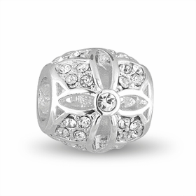 Davinci Beads Silver Flower Crystal Decorative