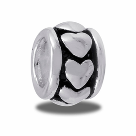 Davinci Beads Silver Heart Large