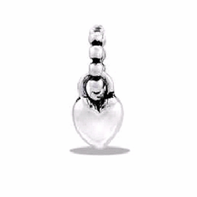 Davinci Beads Small Heart Dangle Two-Toned