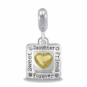 Davinci Beads Square Daughter Duo Dangle