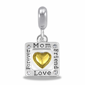 Davinci Beads Square Mom Duo Dangle