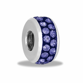 Davinci Beads Tanzanite 2 Row Crystal Stopper