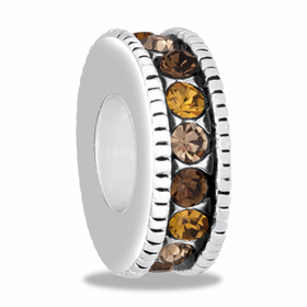 Davinci Beads Topaz Large CZ Wheel Thin
