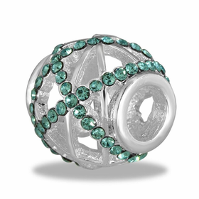 Davinci Beads Turquoise CZ Decorative
