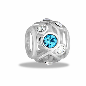 Davinci Beads Turquoise CZ Decorative Cutout