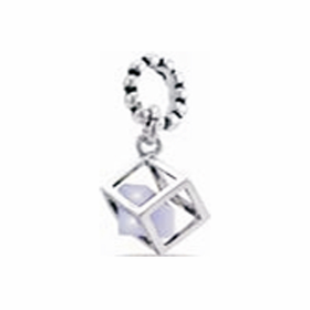 Davinci Beads Violet CZ Box Dangle