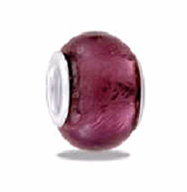 Davinci Beads Violet Foil Glass