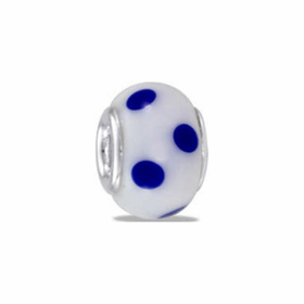 Davinci Beads White Blue Dots