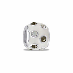 Davinci Beads White CZ Dots
