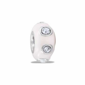 Davinci Beads White CZ Stopper