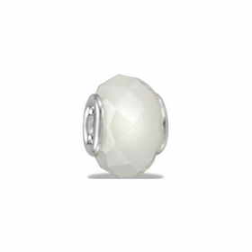 Davinci Beads White Faceted