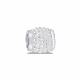 Davinci Beads White Silver Dots