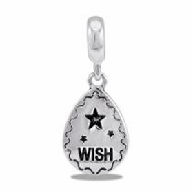 "Davinci Beads ""Wish"" Silver Drop Dangle"