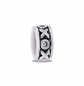 Davinci Beads XO Small Silver