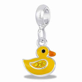Davinci Beads Yellow Duck Dangle