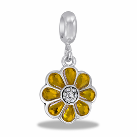 Davinci Beads Yellow Flower Dangle