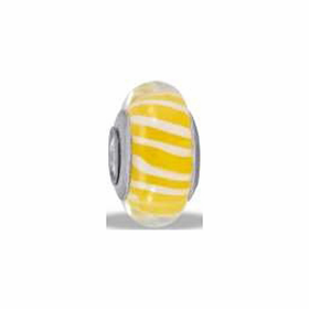 Davinci Beads Yellow Stripe
