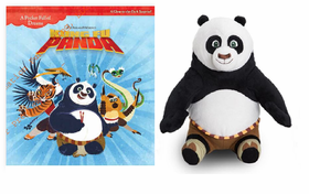 Dreamworks Kung Fu Panda Book and Plush Combo
