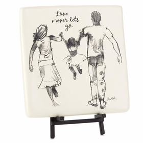 Hallmark Love Never Lets Go Family Decorative Tile