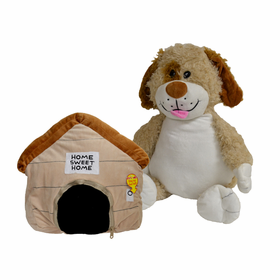 Happy Nappers Dog and Doghouse Pillow