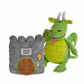 Happy Nappers Dragon and Castle Pillow