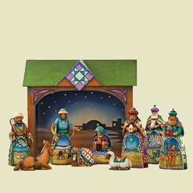 Heartwood Creek by Jim Shore 10 Piece Mini Nativity Set