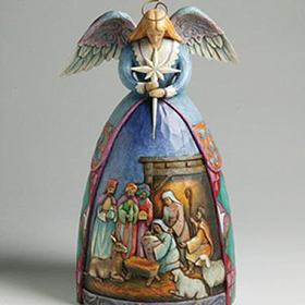 HEARTWOOD CREEK BY JIM SHORE ANGEL NATIVITY GOWN