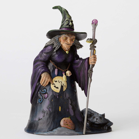 Heartwood Creek by Jim Shore Be Very Afraid Witch Figurine