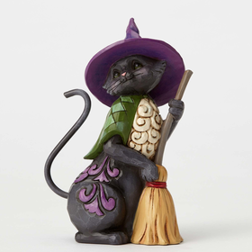 Heartwood Creek by Jim Shore Black Cat Crossing Figurine
